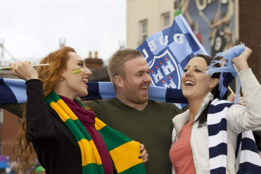 Number five on our list of what not to do in Ireland is wearing the wrong colours.