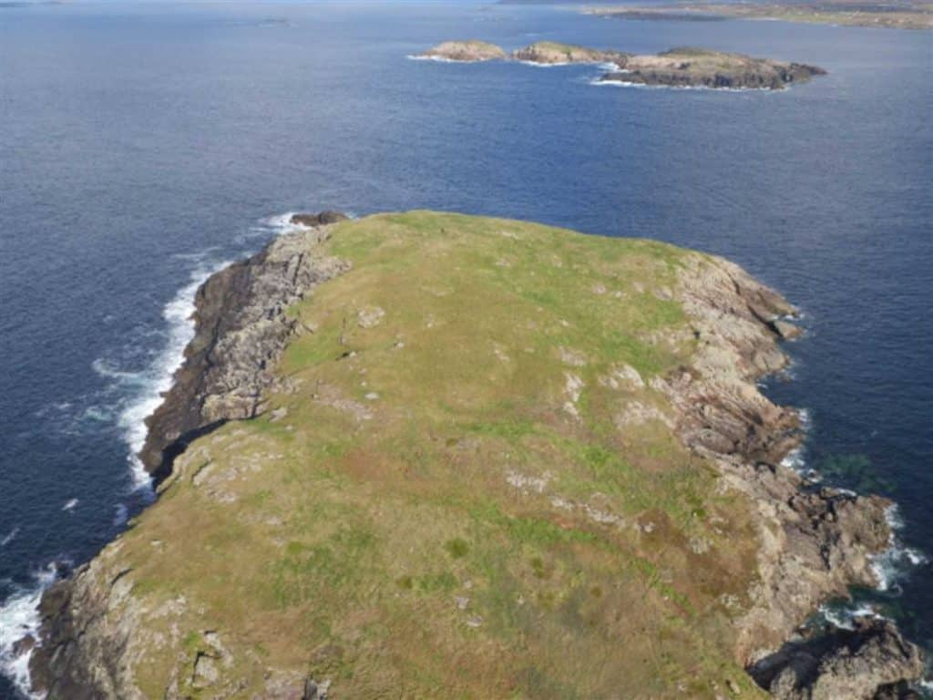 Remote Irish island up for sale.