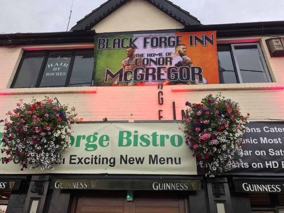 Black Forge Inn is a local favourite of the MMA fighter.