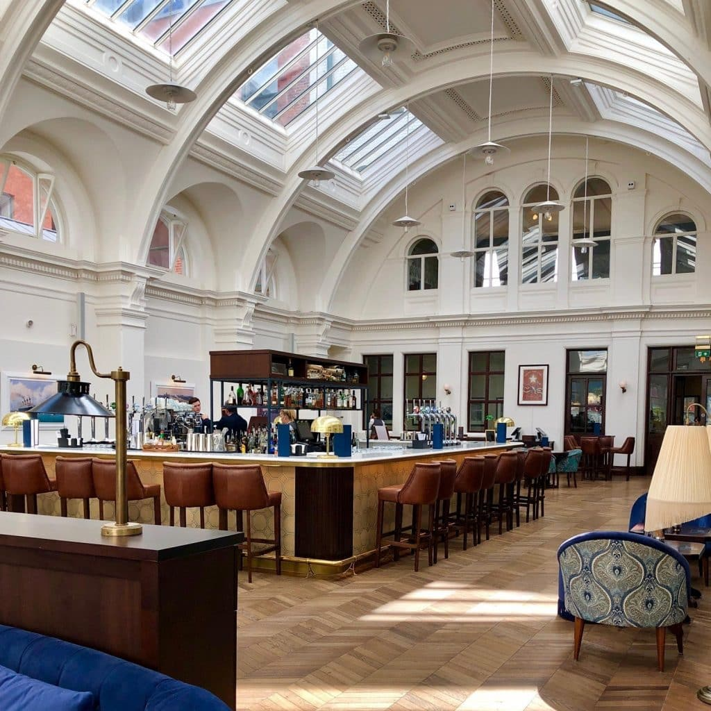 You can have a pint in the historic drawing rooms.