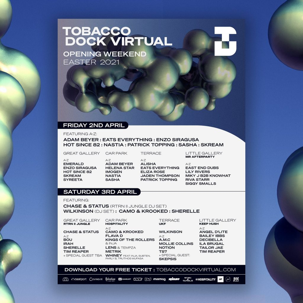 Tobacco Dock Virtual for music fans.