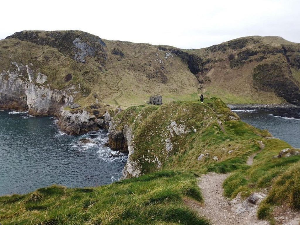 Kinbane Castle in County Antrim is one of the Causeway Coast's lesser-known castles.