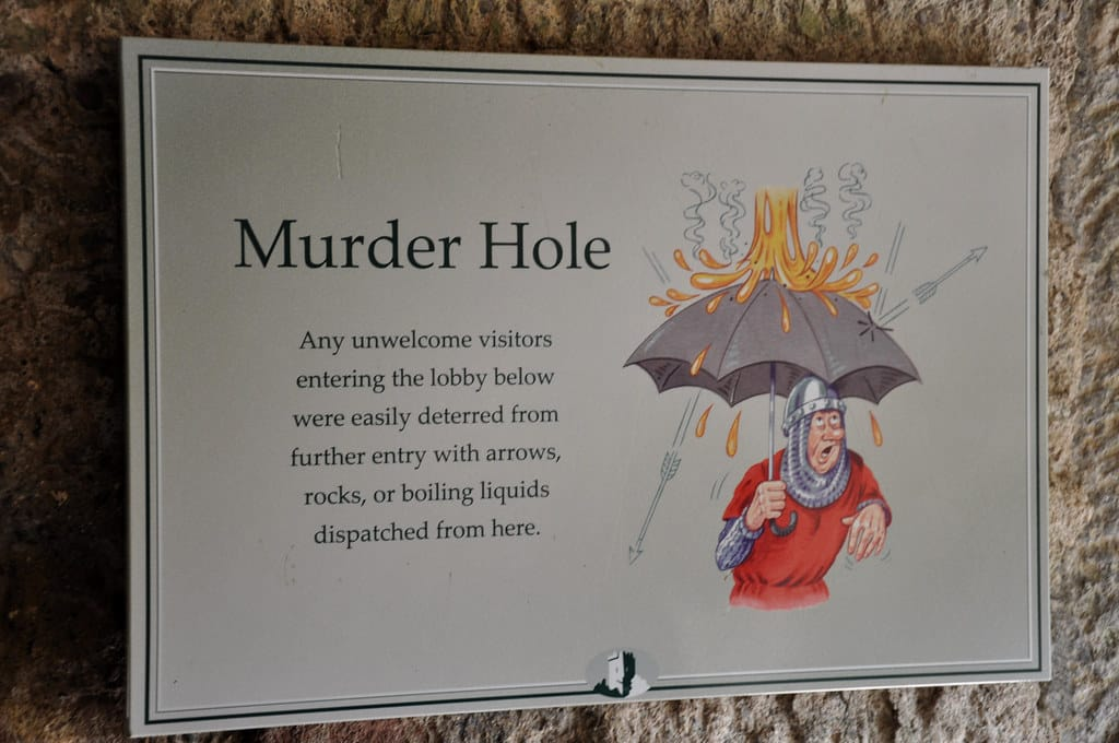 There is a murder room.