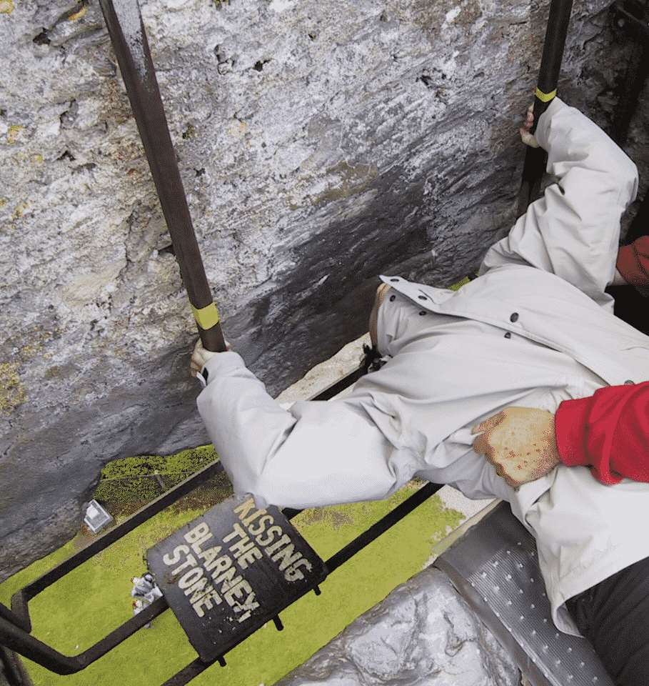 One of the Blarney Stone facts is that its not actually that easy to kiss the stone.