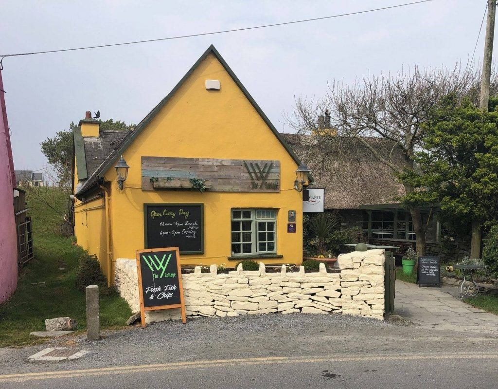 Grab a bite to eat at the Ivy Cottage.
