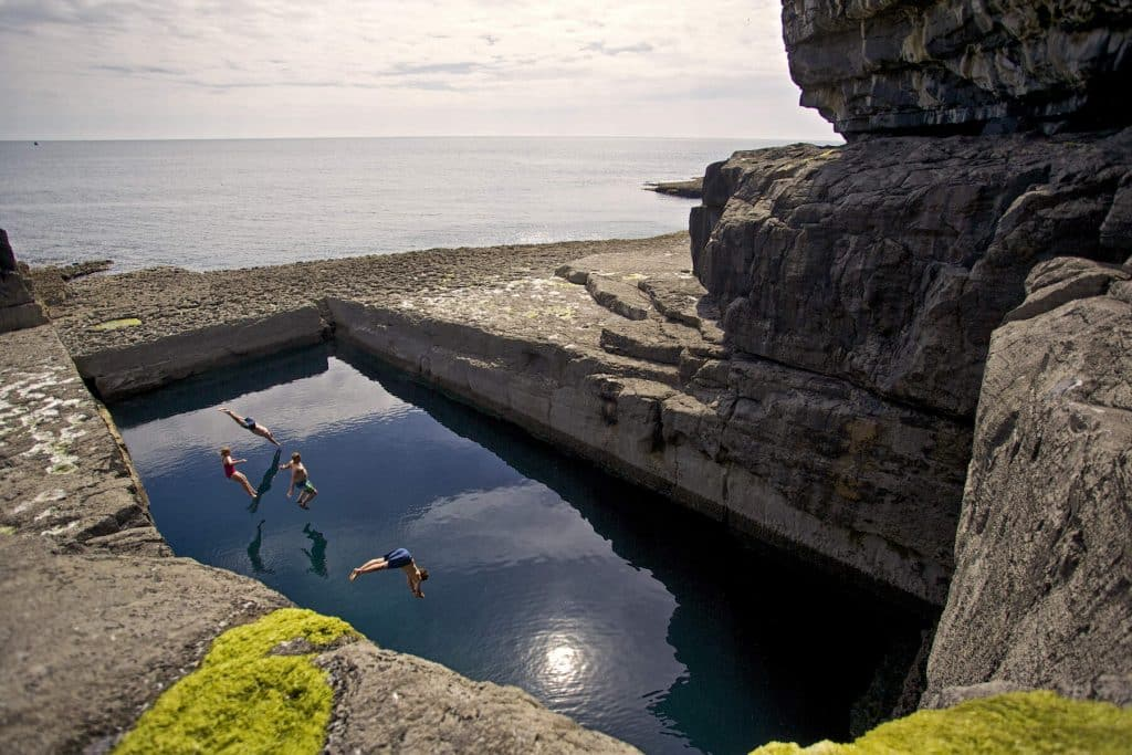 The Wormhole in County Galway is one of the hidden gems in Ireland.