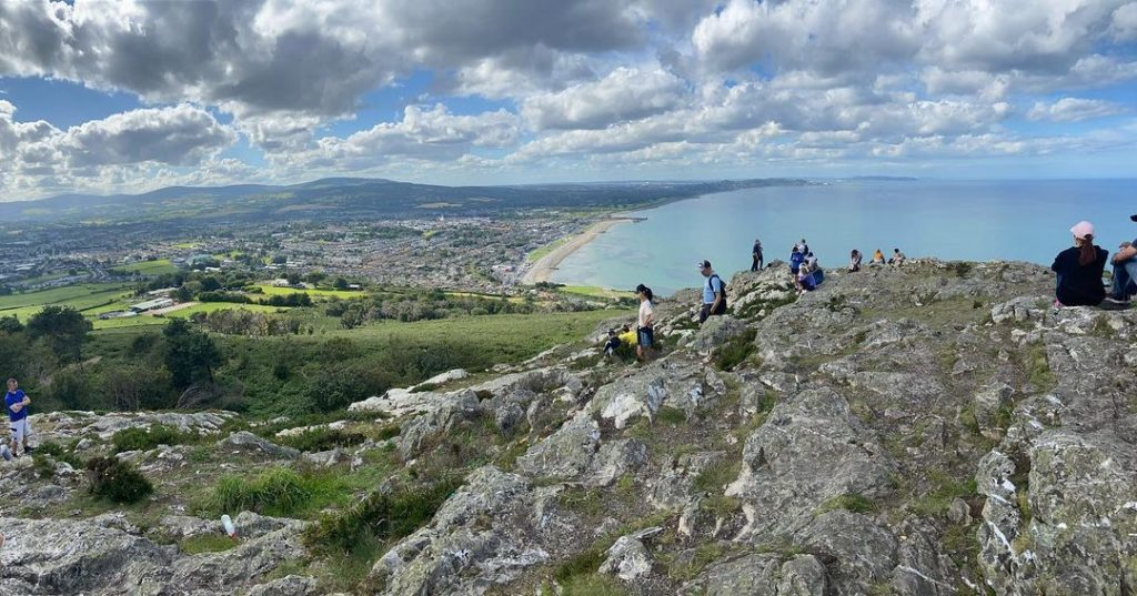 Experience the Bray cliff walk during your 24 hours in Greystones.