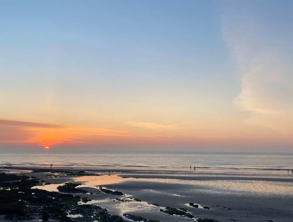 Portmarnock Beach at sunset.