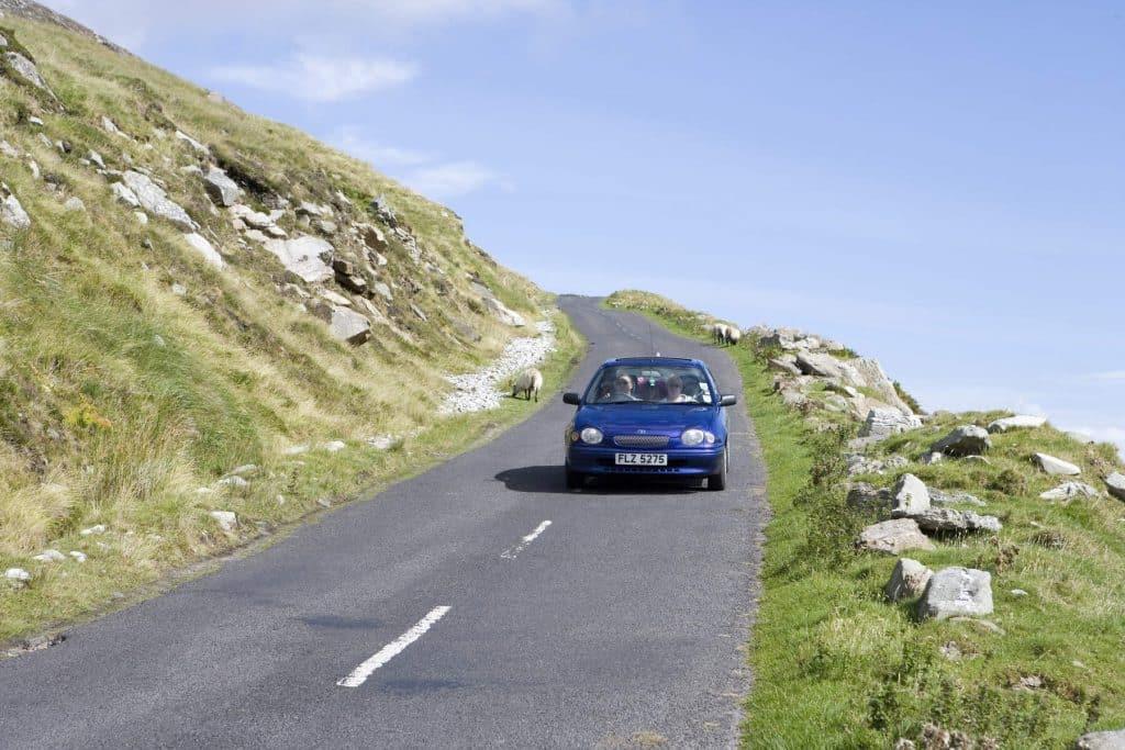 Driving through Achill Island.