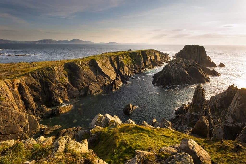 Malin Head is one of the best places for wild rock climbing in Ireland.