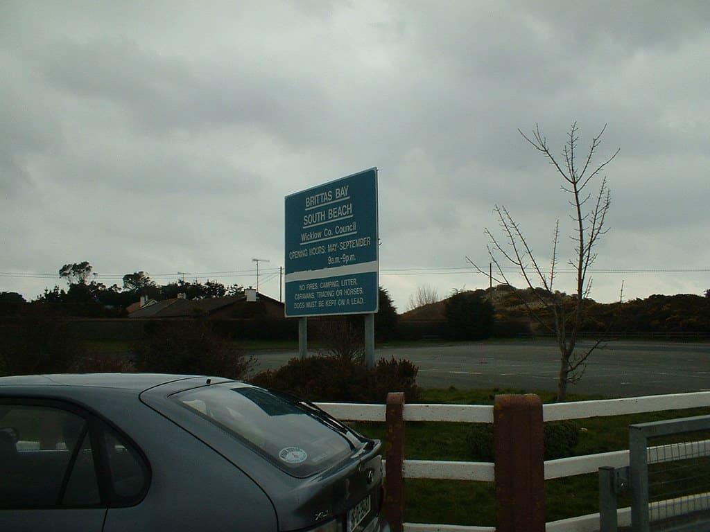 Parking at Brittas Bay.