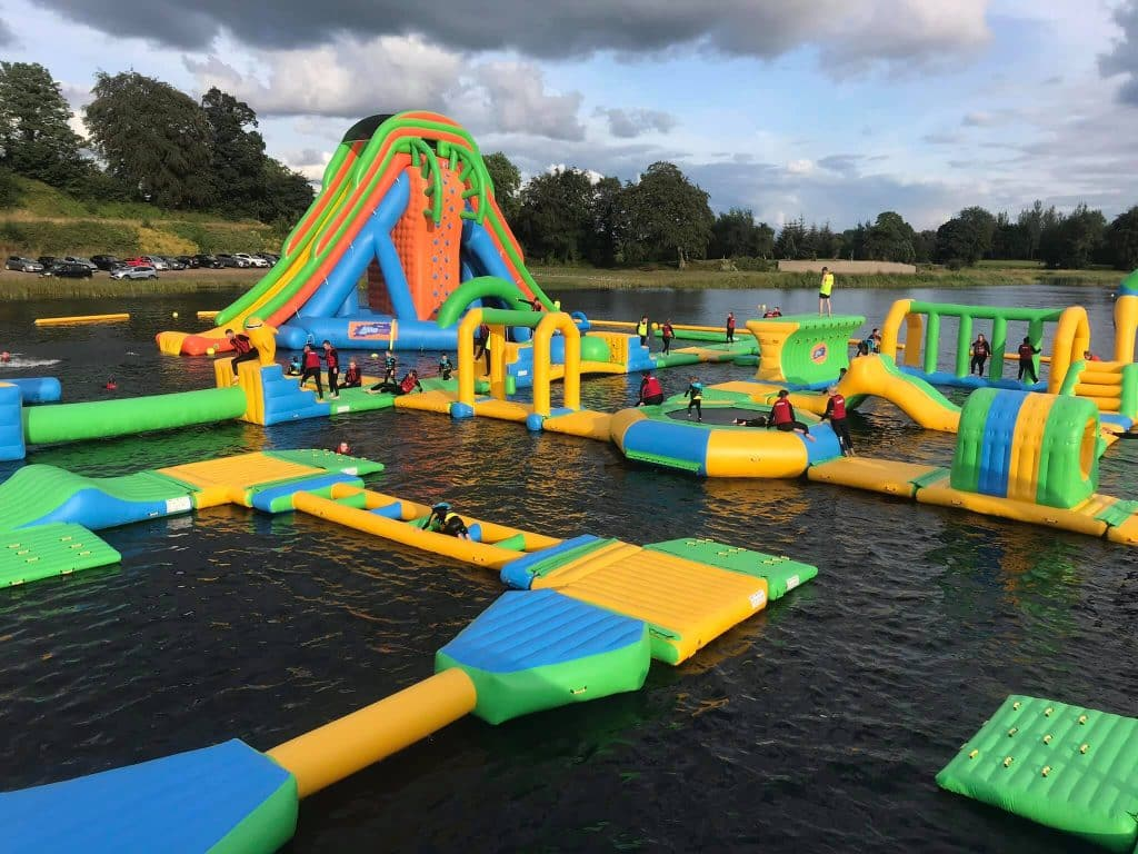 The Lake Kilrea inflatable waterpark.