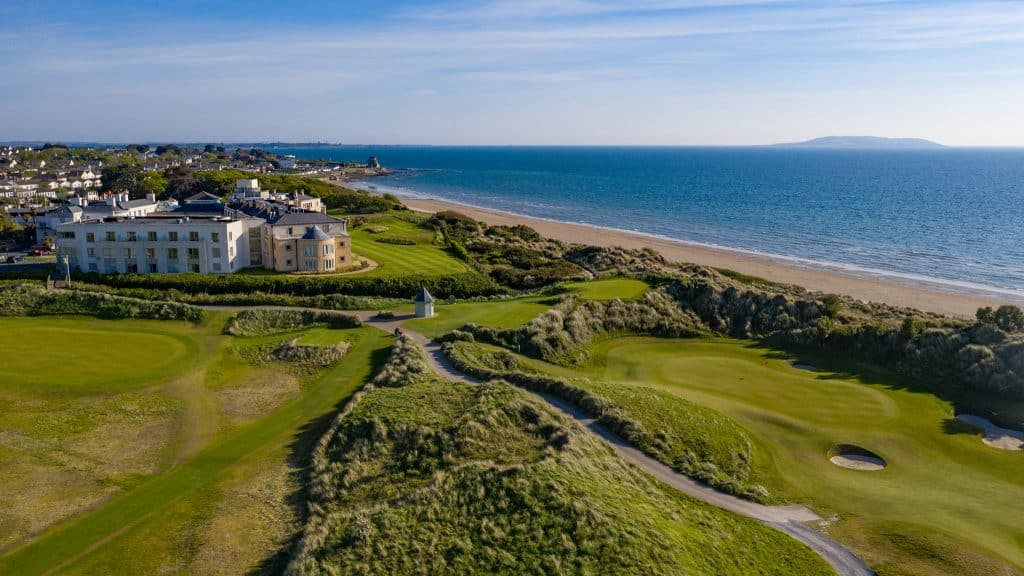 Portmarnock Hotel and Golflinks in County Dublin has an idyllic backdrop.