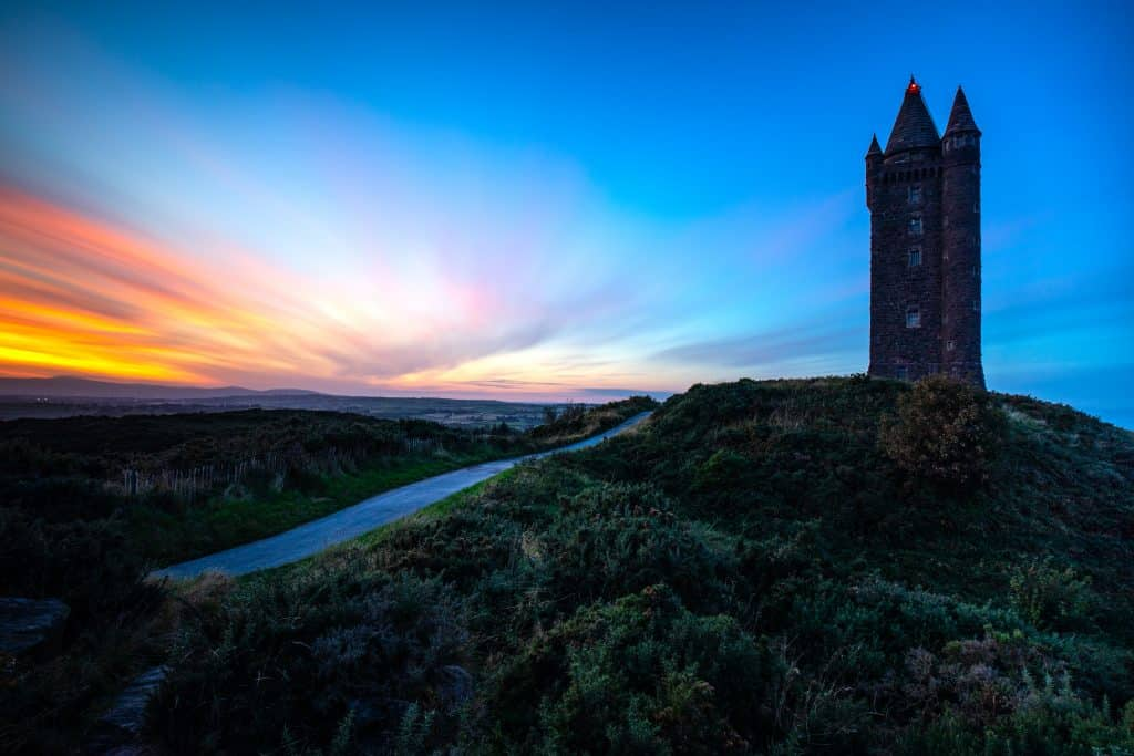Scrabo Tower offers amazing views over North Down.