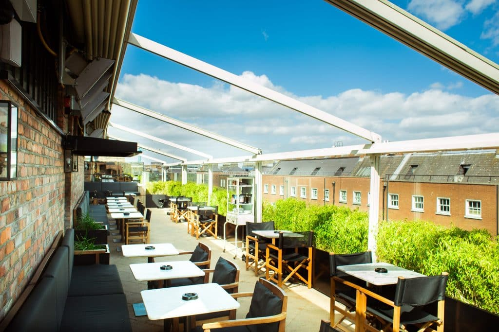 Sophie's in Dublin is one of the Irish rooftop bars named among the best in Europe.