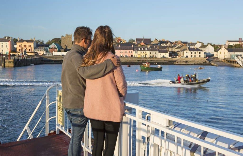 Take the Strangford to Portaferry ferry.