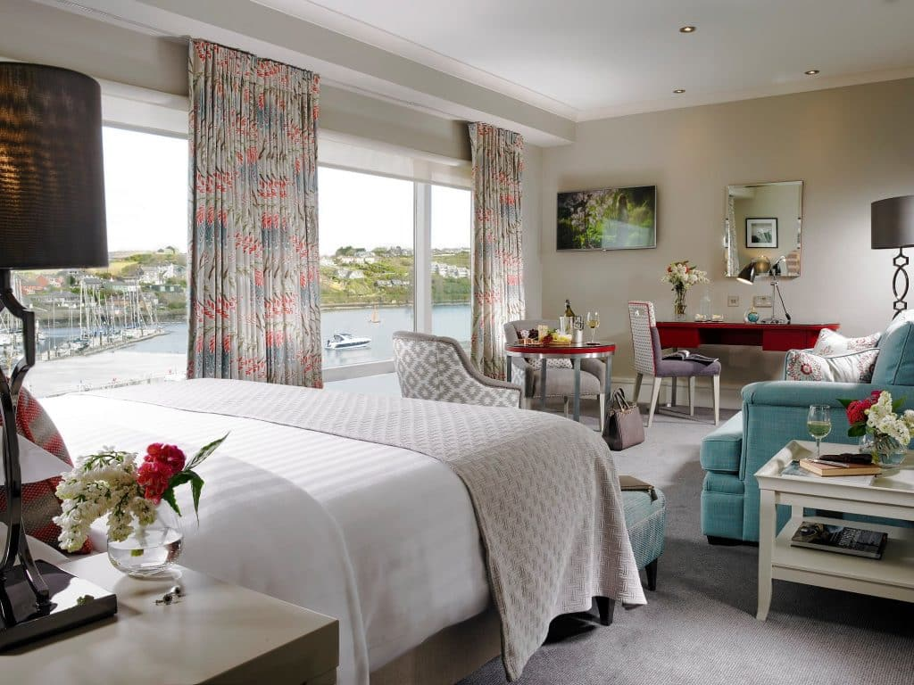 Trident Hotel in Kinsale is one of the snazziest 5-star hotels in Cork.