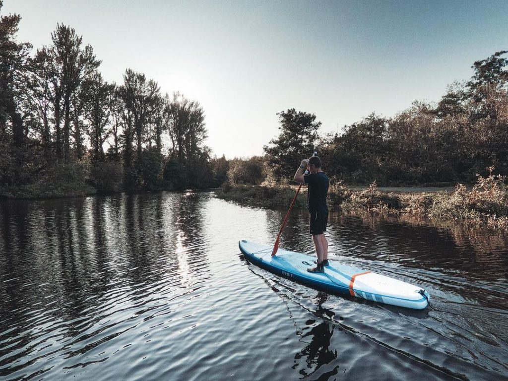 The River Lagan is a great spot to take to the paddleboard.