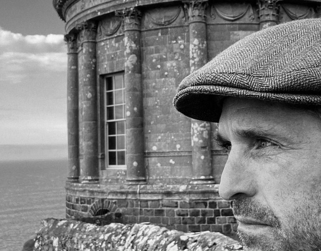 Patrick Dempsey during a visit to Northern Ireland.