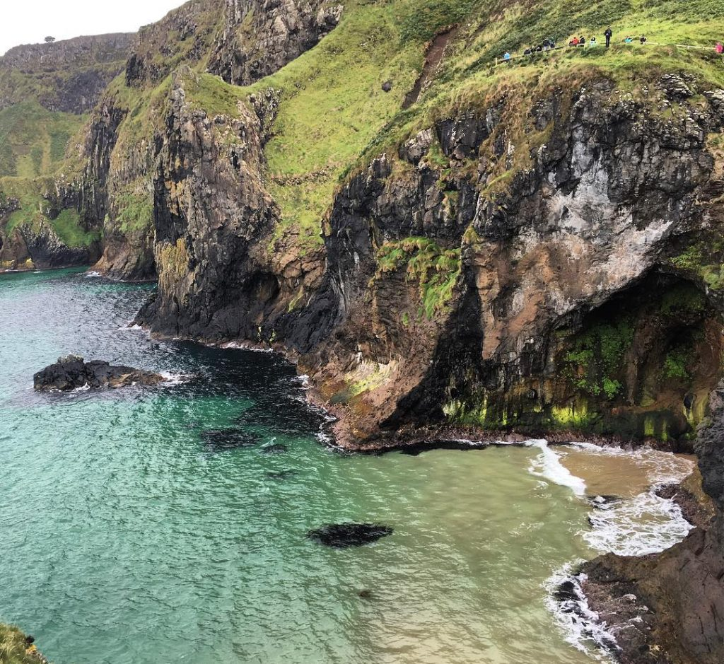 Swimming at Carrick-a-Rede offers a new perspective of an iconic site.