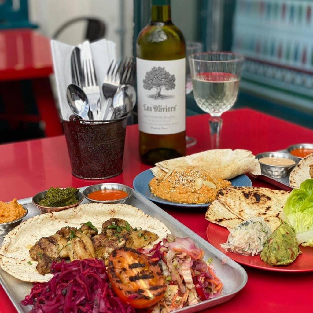 Buba serves excellent Mediterranean food.