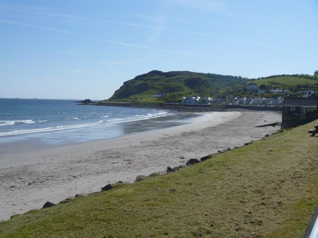Ballygally Beach is one of the best beaches in Antrim.