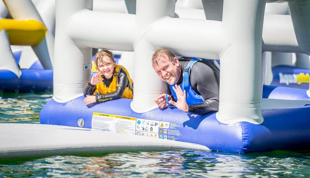 Great fun for all the family at Ireland's newest inflatable water park.