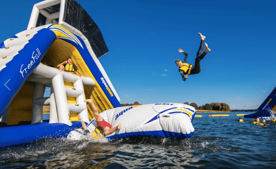 Ireland's newest inflatable water park opens in Killaloe.