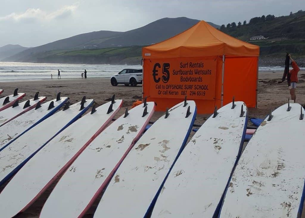 Inch beach is one of the best surfing spots in Ireland.