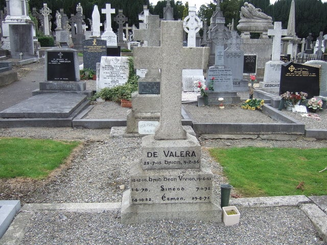 De Valera is one of the most famous people buried in Dublin's Glasnevin Cemetery.