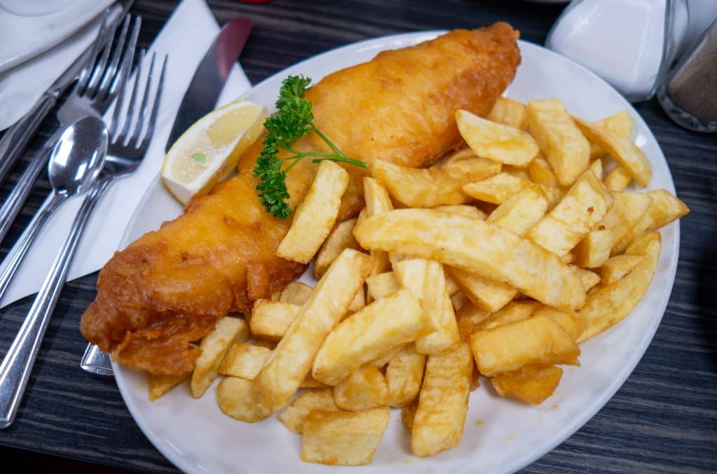 Enjoy some fish and chips on your five-day Ireland itinerary.