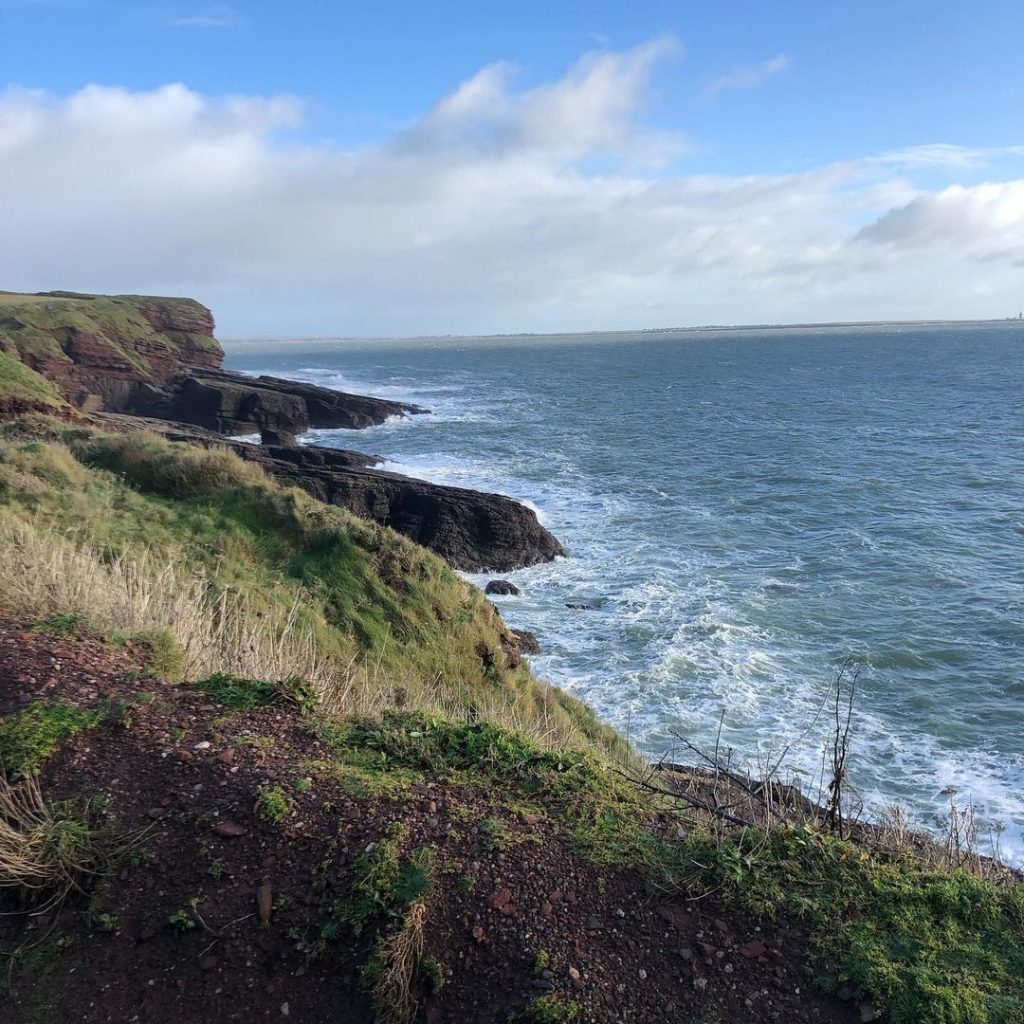 Dunmore Cliffs are one of the best places to visit in Ireland in the autumn.