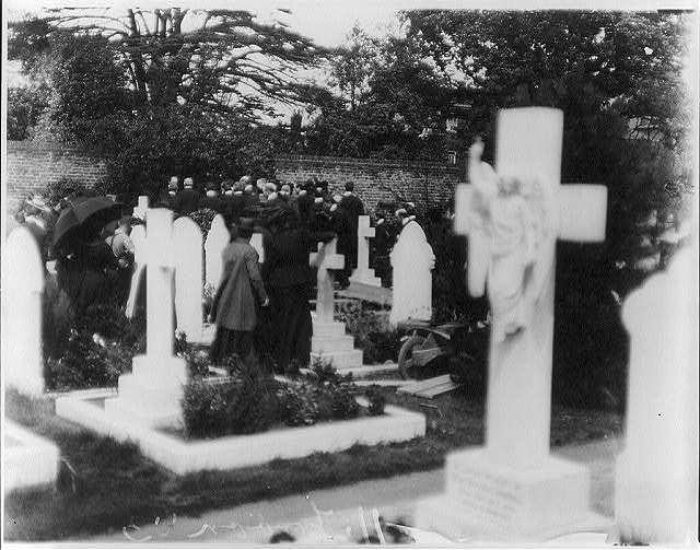 Keening was common at funerals.